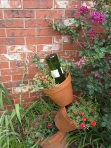 wine bottle waterer