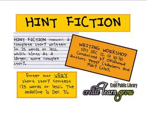 Hint fiction poster