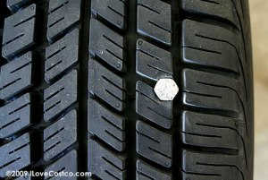 tire with bolt